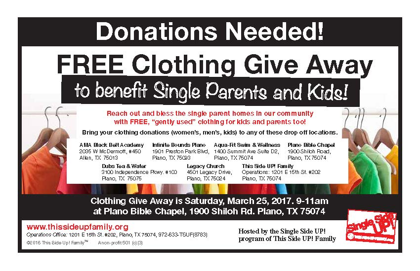 SingleParentClothingGiveaway HalfPage Single March 2017